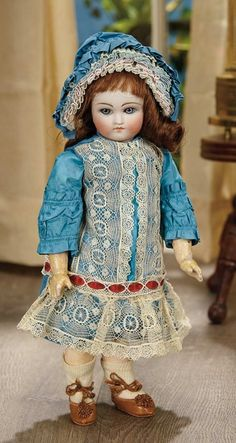 Sanctuary: A Marquis Cataloged Auction of Antique Dolls - March 19, 2016: Petite Sonneberg Bisque Closed Mouth Doll
