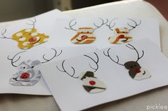 Personalized cards with fabric scraps and SoSoft fabric paint