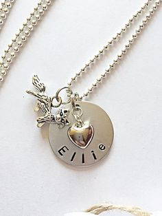 Personalised Necklace  Fox Necklace  Hand Stamped by EmmaFleet