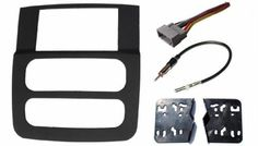 Dodge Ram (1500, 2500, 3500) Radio Stereo Double Din Navigation Black Bezel Installation Kit (2002 2003 2004 2005) by CIP. $139.99. The Dodge Ram 2002-2005 Factory Bezel is designed to house Single Din Radios only. Therefore modifications are necessary to install larger Double Din Radios. Modifying is completed by hand and often includes cutting the Factory Bezel, filling it with bondo or fiberglass, then sanding and painting or using vinyl to cover. This process...