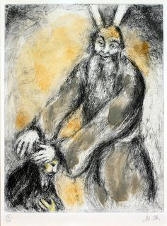 Marc Chagall - Joshua receives the blessing of Moses (Deuteronomy, XXXIV, 9), 1956 - Haggerty Museum