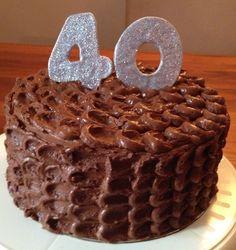 40th Birthday cake - chocolate and salted caramel
