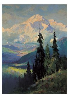 Mount McKinley notecard (by Sydney Laurence, 1865-1940)