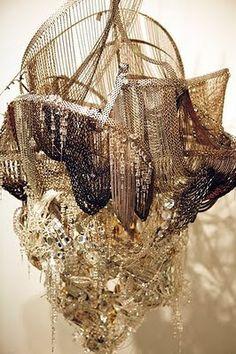 Lehman Maupin- Lee Bul (Chandelier) Close-up. Design Studio, Abstract Sculpture, Installation Art, Decoration, Contemporary Art, Lights, Instagram, Beautiful, Design Suites