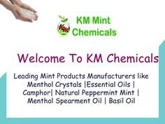 Menthol Crystals KM Chemicals is the company since its incorporation involved in offering mint products at an inexpensive rate. Being the most dependable Menthol Crystals Manufacturers, we organized our company with the talented team of experts and customer support. We give attention on its manufacturing to testing to packaging at all the stages.
