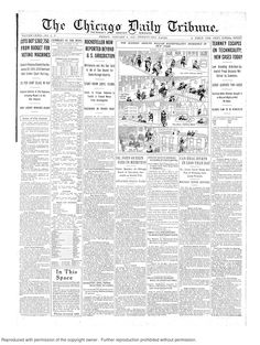 Jan. 3, 1913: More news on the front page than on many pages of current papers - and all for just one cent (two cents in the suburbs.)
