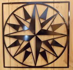 """Compass Rose"" - 12 Mariner's Compass Metal Quilt Square Wall by MetalMarkTX, $19.00"