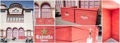 "With Estrella Damm since today also in Mercat de les Flors ""terrace bar design"""