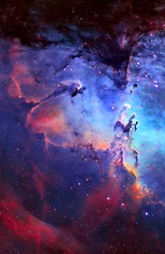Hubble Space Telescope Eagle Nebula in the constellation Serpens - Cosmos, Hubble Space Telescope, Space And Astronomy, Galaxy Space, Galaxy Art, Eagle Nebula, Orion Nebula, Ciel Nocturne, Space Photos