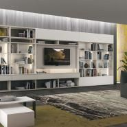 living room living room ideas LIBRARY 30 / FREE-STANDING Vitalyty Luce White I-shaped