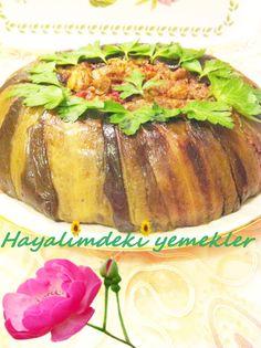 Patlıcanlı Pilav tarifi resimli degisik pilav tarifleri Beautiful Cakes, Baked Potato, Potatoes, Pasta, Baking, Ethnic Recipes, Food, Potato, Bakken
