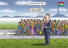 Cartoon: FLÜCHTLINGE VERLASSEN UNGARN (medium) by marian kamensky tagged seehofer,horst,heidenau,terrorismus,willkommenskultur,politik,asyl,flüchtlinge,eu,bayern,eu,flüchtlinge,asyl,politik,willkommenskultur,terrorismus,heidenau,horst,seehofer,bayern