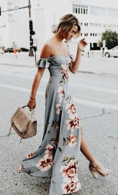 summer wedding guest dress ideas!  wrapdress  maxidress  summeroutfit Boho  Floral Dress 88cdf5c24