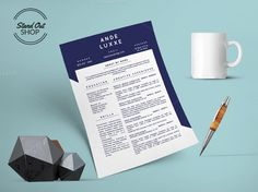 Ande Luxxe Resume MS Word Apple Page by @Graphicsauthor