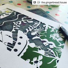 I love this photograph from @the.gingerbread.house of this papercut she's finished from the Adventure Awaits #embellishbox. Fantastic.
