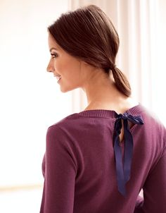 Bow Back Jumper by Pepperberry Tops