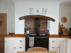 Oven in fireplace