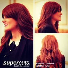 Sarah - Supercuts Regional Business Manager  Sarah describes her style as glamorous and bubbly.