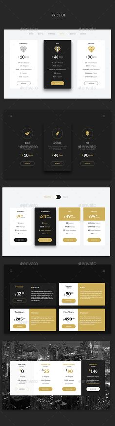 Buy Price UI by Doony on GraphicRiver. PSD File is fully layered and can easily be edited Shapes are vectors easy to resize Colors and shapes can be c. Table Template, Pricing Table, Ui Design Inspiration, User Interface, How To Draw Hands, Presentation, Graphic Design, Templates, Tables