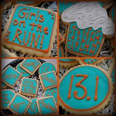 Running Cookies I am making these for my running girls!!!!