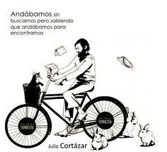 Cuando Cortázar volaba en bicicleta y dejó las autopistas, se encontró con el conejo blanco.