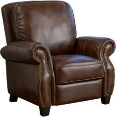 Superieur Add A Stately Touch To Your Living Room Or Parlor Ensemble With This  Handsome Reclining Arm Chair, Featuring Faux Leather Upholstery And Trendy  ...
