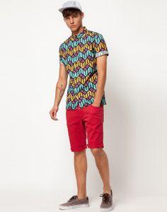 perfect, hate him! Mens Fashion Wear, B Fashion, African Men Fashion, African Print Shirt, African Shirts, African Attire, African Wear, African Style, Structured Fashion
