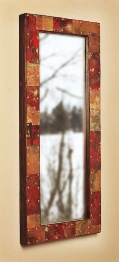 28x12 Metal and Copper Mirror by paulrungstudio on Etsy, $110.00