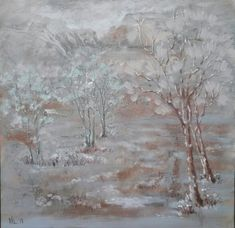 """""""Winter"""" Oil on canvas. Size 60*60cm."""