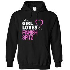 nice This girl love her Finnish Spitz T-shirt , Animal T-shirts