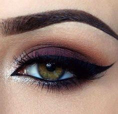 burgundy maroon bordeaux eyeshadow