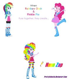 Rainbow Dash and Pinkie Pie Fusion by PrettyCelestia on DeviantArt