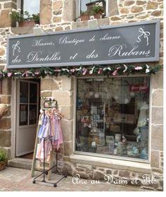 Ane au Daim et Fils Des dentelles et des rubans 5 rue Oise Paimpol : loop ik altijd graag even binnen!