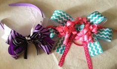 DIY hairband and hair bow...