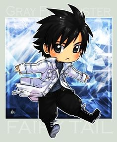 chibi grey from fairy tail. I add a bunch of filters and things like that. Fairy Tail Gruvia, Fairy Tail Gray, Fairy Tail Love, Fairy Tail Anime, Anime Chibi, Manga Anime, Anime Boys, Fairy Tail Characters, Anime Characters