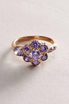Zircon Posy Ring in 14k Rose Gold by Arik Kastan