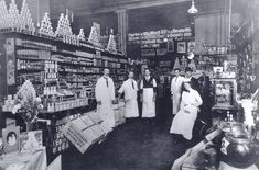 Grocery department, Woodward's.