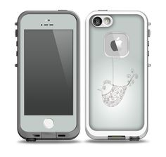 The Simple Vintage Bird on a String Skin for the iPhone 5-5s fre LifeProof Case
