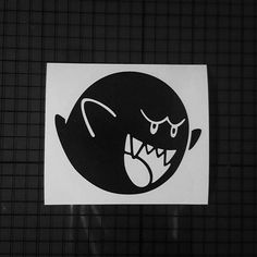Super Mario Brothers Castle Ghost Decal - Solid Design