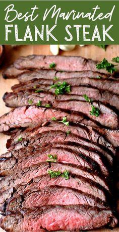 Bbq Flank Steak, Marinated Flank Steak, How To Grill Steak, Bbq Grill, Meats To Grill, Balsamic Flank Steak, Steak Marinade Recipes, Flank Steak Recipes, Tri Tip Marinade