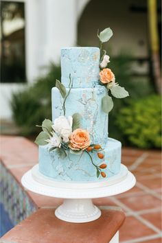 """From the editorial """"Romantic Elopement At The New La Lomita Ranch in San Luis Obispo!"""" We're sharing all the details on SMP, so head to the blog to see more breathtaking florals, the dreamiest dinner table and the coolest wedding cake! 
