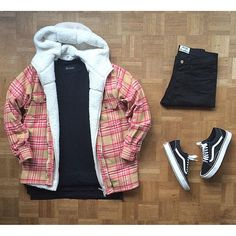 Outfit grid - Checked jacket day