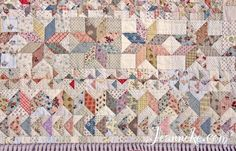Victoria Quilt, all blocks in my quilt, small and large LeMoyne Stars, tiny Windmills, Zigzag and Flying Geese