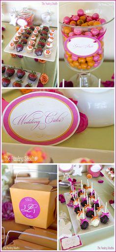 Beach style wedding dessert table