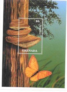 Grenada - Mushrooms & Butterflies, 2000 - Sc 2920 S/S MNH