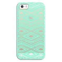 iPhone 6 Plus/6/5/5s/5c Bezel Case - Hipster Mint Green Arrows Aztec... ($35) ❤ liked on Polyvore featuring accessories, tech accessories, phone, phone cases, electronics, tech, iphone case, aztec print iphone case, aztec iphone case and mint iphone case
