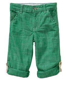Chambray roll-up pants | Gap