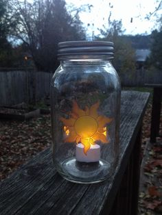 Oil Painted Rapunzel Sun Mason Jar Lantern inspired from Tangled by TouchesOfFrost on Etsy https://www.etsy.com/listing/213003894/oil-painted-rapunzel-sun-mason-jar