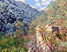 Claude Monet, Olive trees and palm trees, Sasso Valley on ArtStack #claude-monet #art