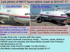 Last #MH17-photos BEFORE crash #ukraine by israeli Yaron.mofaz (alive?) and Pan Cor (dead?)